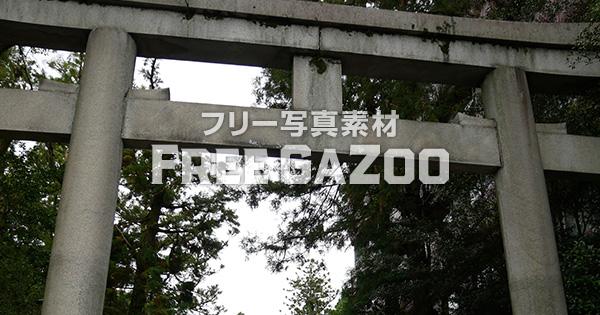 京都 岡崎神社の鳥居 2