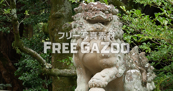 京都 岡崎神社の狛犬 1