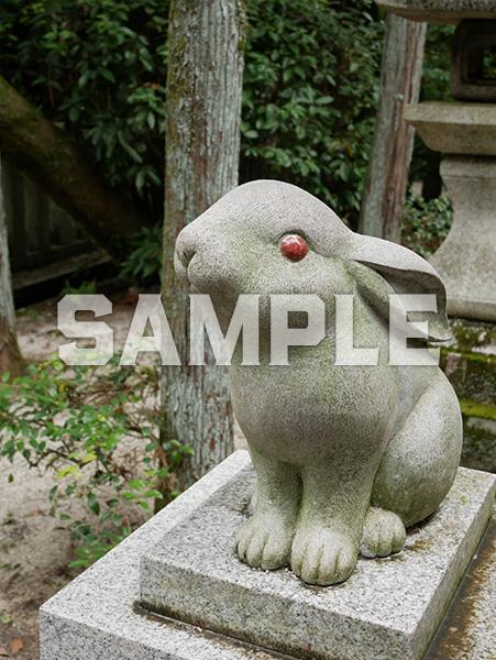 京都 岡崎神社の狛うさぎ 1