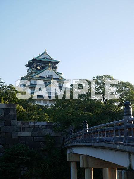 大阪城天守閣を極楽橋から望む