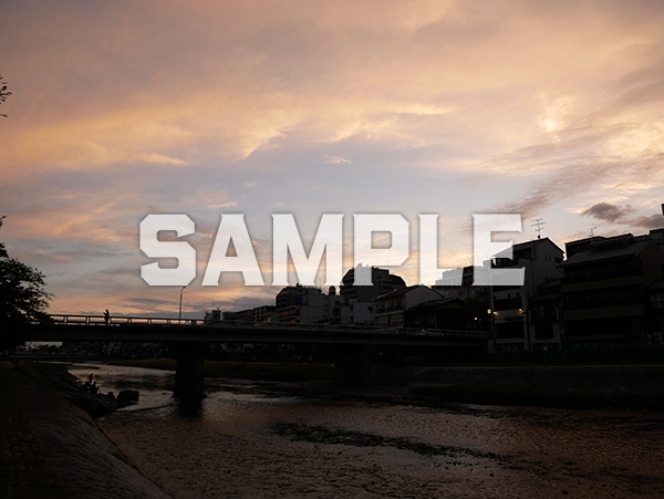 京都鴨川夕景 2